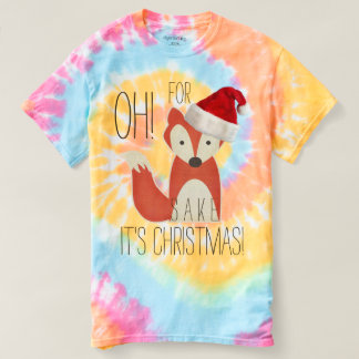 Humorous Oh For Fox Sake It's Christmas T-Shirt