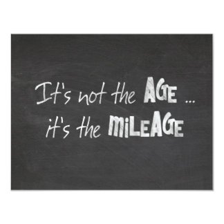 Humorous old age quote on chalkboard 11 cm x 14 cm invitation card