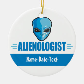 Humorous Outer Space Aliens Christmas Ornament