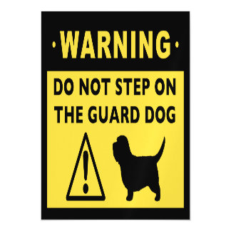 Humorous PBGV Guard Dog Warning Magnetic Invitations