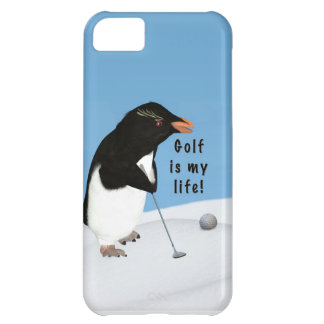 Humorous Penguin Playing Golf iPhone 5C Case