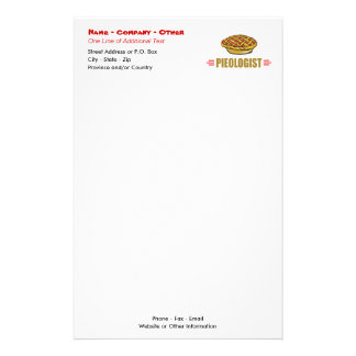 Humorous Pie Bakery Stationery Paper