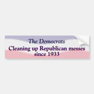 Humorous Pro Democratic Party  Sticker Bumper Sticker