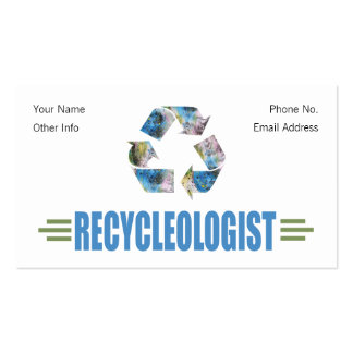 Humorous Recycling Pack Of Standard Business Cards