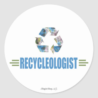 Humorous Recycling Round Stickers