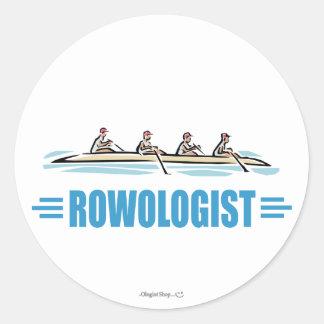 Humorous Rowing Round Sticker