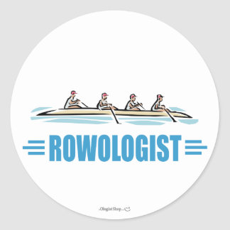 Humorous Rowing Classic Round Sticker