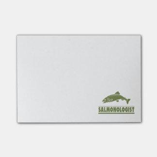 Humorous Salmon Fishing Post-it Notes