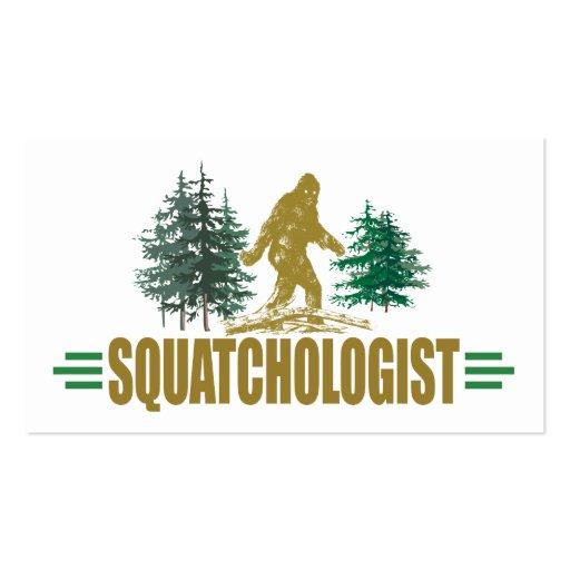 Humorous Sasquatch, Bigfoot Business Card Template
