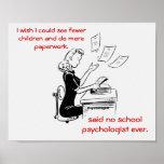 Humorous School Psychologist Poster