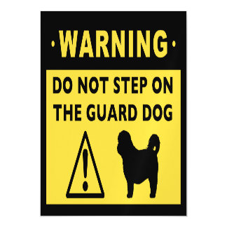 Humorous Shih Tzu Guard Dog Warning Magnetic Card