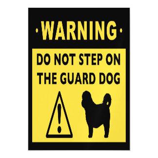 Humorous Shih Tzu Guard Dog Warning Magnetic Invitations