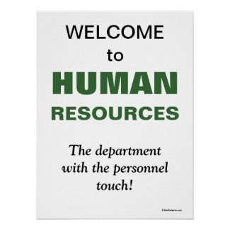 Humorous Slogan Human Resources Department