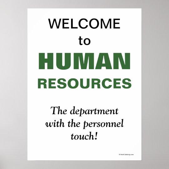 Humorous Slogan Human Resources Department Poster