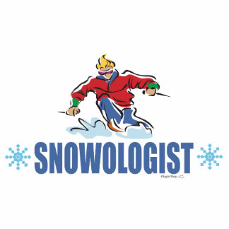 Humorous Snow Skiing Photo Cut Out