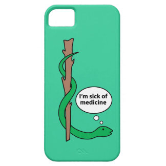 Humorous Staff of Asclepius iPhone 5 Cases