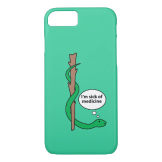 Humorous Staff of Asclepius iPhone 7 Case