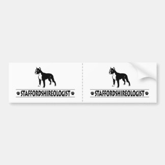 Humorous Staffordshire Bull Terrier Bumper Sticker