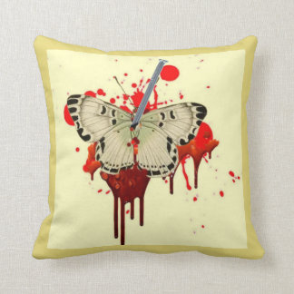 HUMOROUS SURREAL NAILED VAMPIRE BUTTERFLY CUSHION