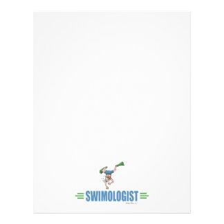 Humorous Swimming 21.5 Cm X 28 Cm Flyer