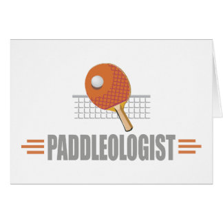 Humorous Table Tennis Greeting Card