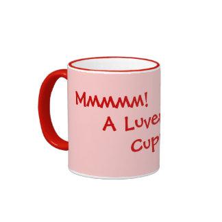 humorous tea and coffee drinking slogan ringer mug