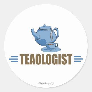 Humorous Tea Round Stickers