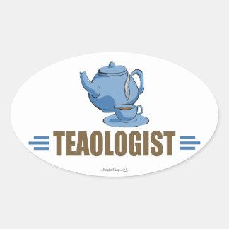 Humorous Tea Oval Sticker