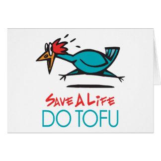 Humorous Tofu Design Greeting Cards