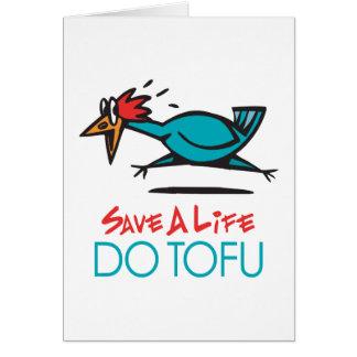 Humorous Tofu Design Greeting Card