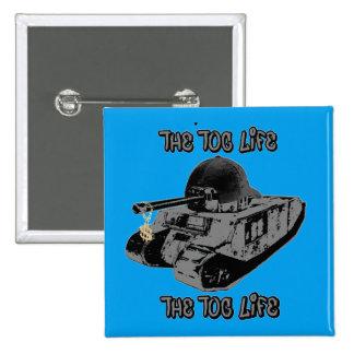 Humorous TOG II parody 15 Cm Square Badge