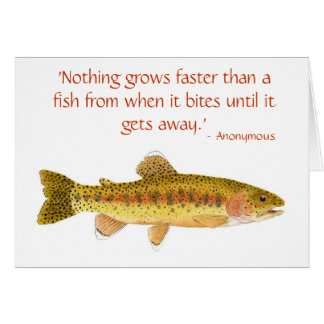 Humorous Trout Card with Qquote 1