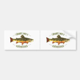 Humorous Trout Fishing Car Bumper Sticker