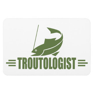 Humorous Trout Fishing Magnet