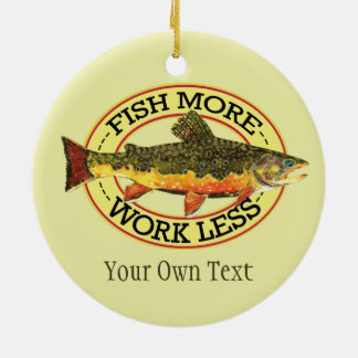 Humorous Trout Fly Fishing Christmas Ornament