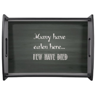Humorous Vintage Style Serving Tray