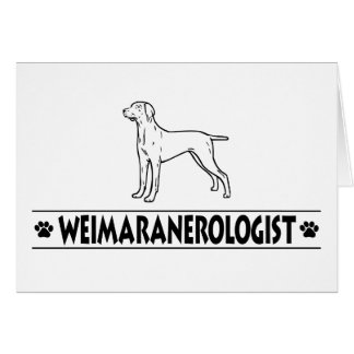 Humorous Weimaraner Greeting Cards