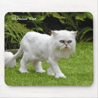 Humorous White Persian Cat Mousepad