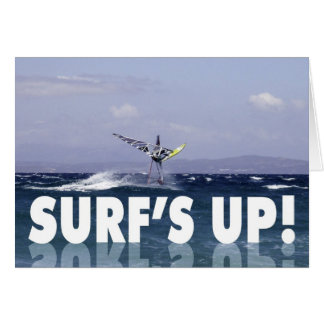 Humorous Windsurfer Birthday for Him Greeting Card