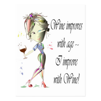 Humorous Wine saying greeting card Postcard