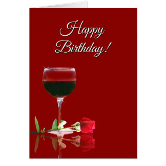 Humorous Wine Themed Birthday Card for A Friend
