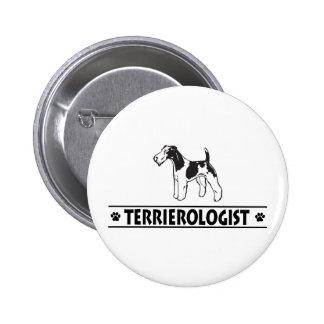 Humorous Wirehaired Fox Terrier 6 Cm Round Badge
