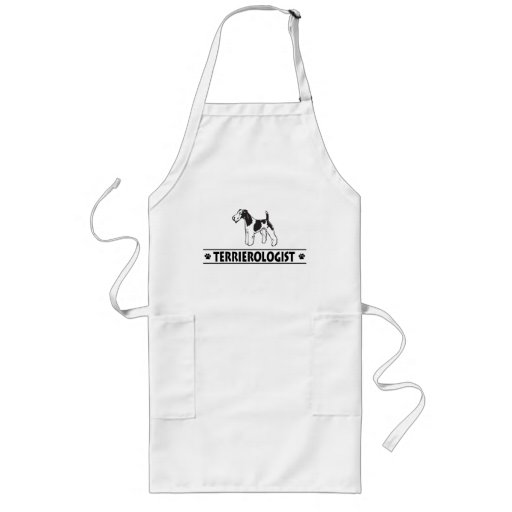 Humorous Wirehaired Fox Terrier Apron