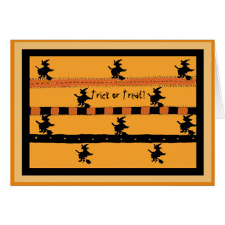 Humorous Witchy Halloween Notecard