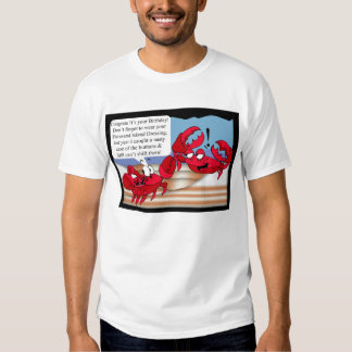 Humour Birthday Card with two crabs Tees