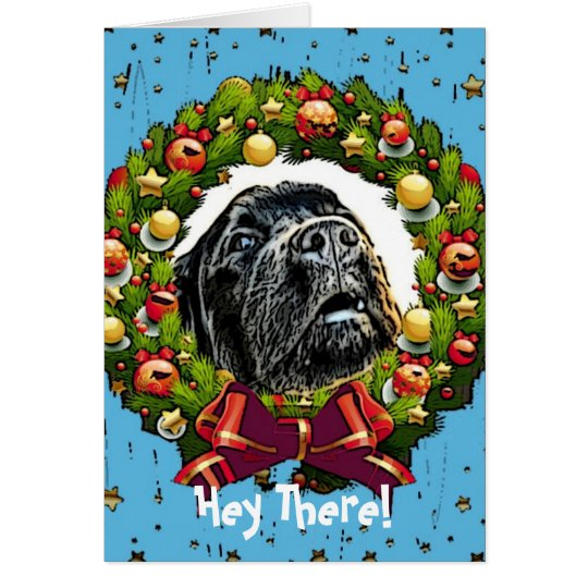 Humour Christmas Card ~Dog