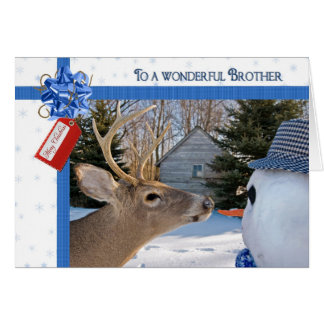 Humour for Brother's Christmas Greeting Card