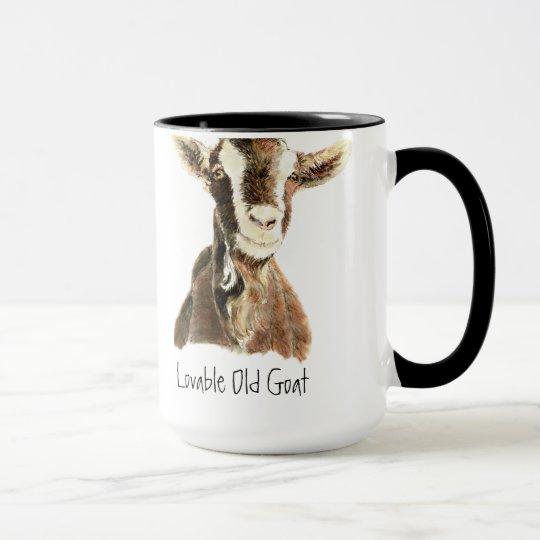 Humour Loveable Old Goat, Animal, Farm Pet Mug
