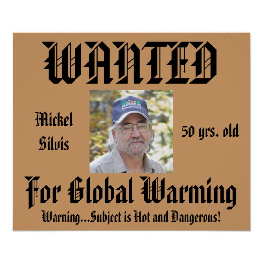 Humour Personalised Wanted Poster