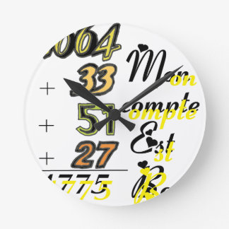 HUMOUR png ALCOHOL Round Wall Clocks